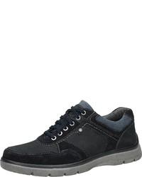 dunkelblaue Wildleder niedrige Sneakers von Bama