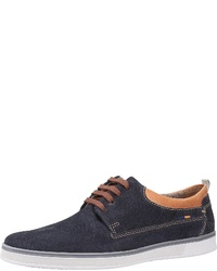 dunkelblaue Wildleder niedrige Sneakers von FRETZ men