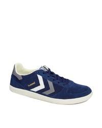 dunkelblaue Wildleder niedrige Sneakers von Hummel