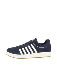 dunkelblaue Wildleder niedrige Sneakers von K-Swiss
