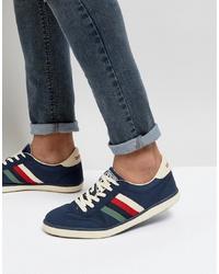 dunkelblaue Wildleder niedrige Sneakers von Lambretta
