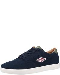 dunkelblaue Wildleder niedrige Sneakers von Lee Cooper
