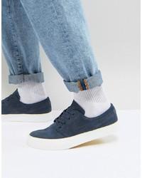 dunkelblaue Wildleder niedrige Sneakers von Nike SB