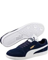 dunkelblaue Wildleder niedrige Sneakers von Puma