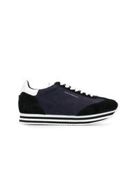 dunkelblaue Wildleder niedrige Sneakers von Rebecca Minkoff