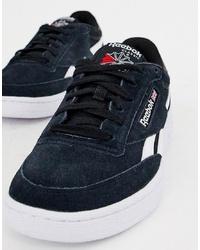 dunkelblaue Wildleder niedrige Sneakers von Reebok