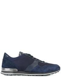 dunkelblaue Wildleder niedrige Sneakers von Tod's