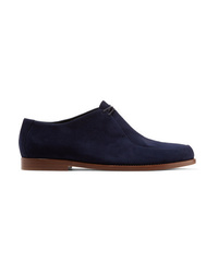 dunkelblaue Wildleder Oxford Schuhe von Mansur Gavriel