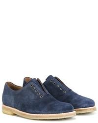 dunkelblaue Wildleder Oxford Schuhe von Pépé