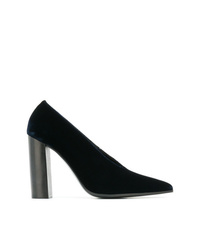 dunkelblaue Wildleder Pumps von Stella McCartney