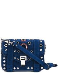 dunkelblaue Wildleder Umhängetasche von Proenza Schouler