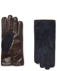 dunkelblaue Wildlederhandschuhe von Tod's