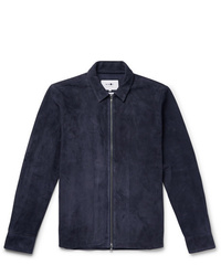 dunkelblaue Shirtjacke aus Wildleder von Nn07