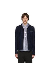 dunkelblaue Shirtjacke aus Wildleder von Prada