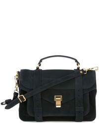dunkelblaue Wildledertaschen von Proenza Schouler