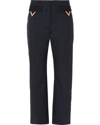 dunkelblaue Wollanzughose von Valentino