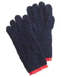 dunkelblaue Wollhandschuhe