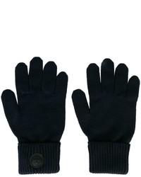dunkelblaue Wollhandschuhe von DSQUARED2