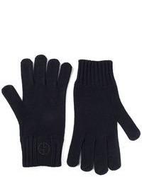 dunkelblaue Wollhandschuhe von Giorgio Armani