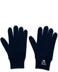 dunkelblaue Wollhandschuhe von Kenzo