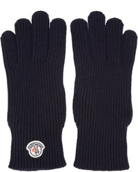 dunkelblaue Wollhandschuhe von Moncler
