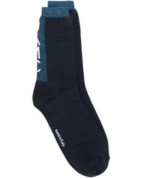 dunkelblaue Wollsocken von Oamc