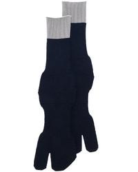 dunkelblaue Wollsocken von Maison Margiela