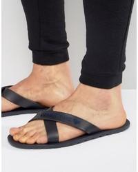 dunkelblaue Zehensandalen von Armani Jeans