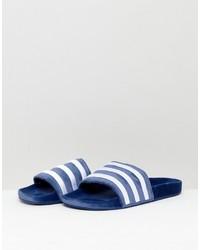 dunkelblaue Zehensandalen von adidas