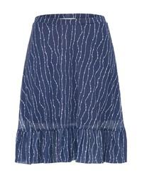 dunkelblauer A-Linienrock von Ichi