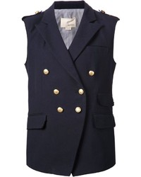 dunkelblauer ärmelloser Blazer von Band Of Outsiders
