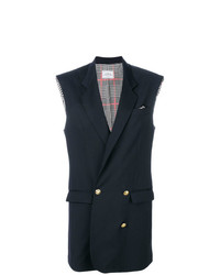 dunkelblauer ärmelloser Blazer von Forte Dei Marmi Couture