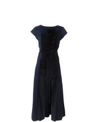 dunkelblauer ärmelloser Mantel von Comme Des Garçons Vintage