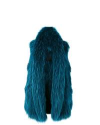 dunkelblauer ärmelloser Mantel von Liska