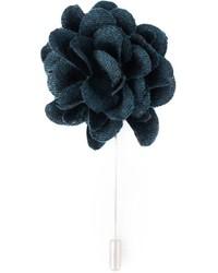 dunkelblauer Anstecknadel mit Blumenmuster von Lanvin