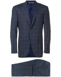 dunkelblauer Anzug mit Karomuster von Canali