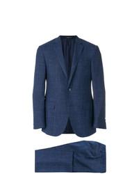 dunkelblauer Anzug mit Karomuster von Corneliani