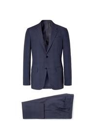 dunkelblauer Anzug mit Karomuster von Ermenegildo Zegna