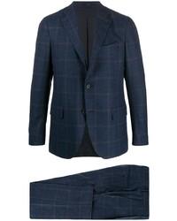 dunkelblauer Anzug mit Karomuster von Lardini