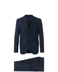 dunkelblauer Anzug mit Karomuster von Mp Massimo Piombo