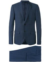dunkelblauer Anzug mit Karomuster von Versace