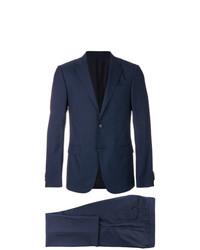 dunkelblauer Anzug mit Karomuster von Z Zegna