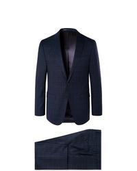 dunkelblauer Anzug mit Schottenmuster von Hugo Boss