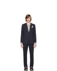 dunkelblauer Anzug von Dries Van Noten