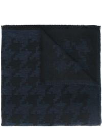 dunkelblauer Baumwollschal mit Hahnentritt-Muster von Eleventy