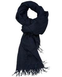 dunkelblauer Baumwollschal von Ami