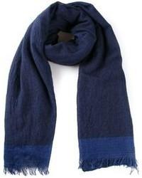 dunkelblauer Baumwollschal von Faliero Sarti
