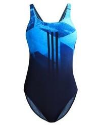 dunkelblauer bedruckter Badeanzug von adidas