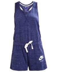 dunkelblauer bedruckter kurzer Jumpsuit von Nike