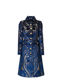 dunkelblauer bedruckter Mantel von Dolce & Gabbana